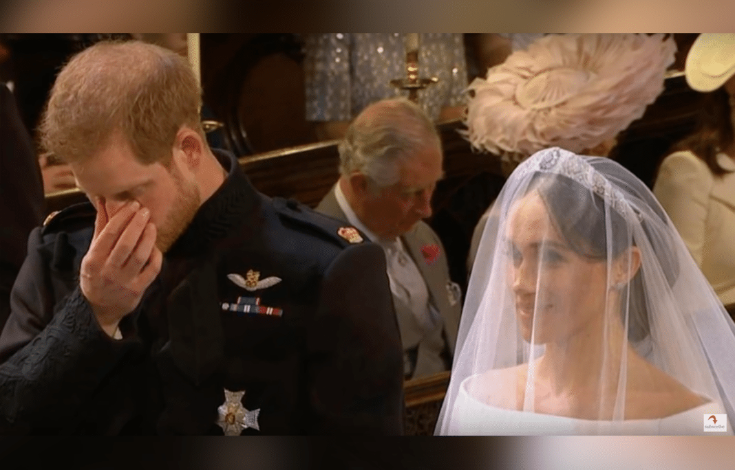 Prince Harry Brought To Tears As Late Mother Diana's Favorite Hymn Plays At His Wedding