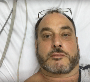 Jeff Naticchia admitted to the hospital