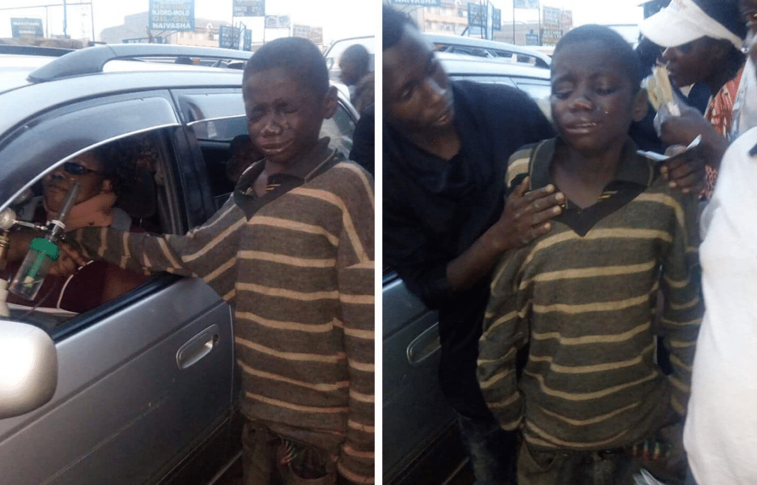 Homeless Boy Approaches Car To Beg For Change. When He Sees Who's Inside, He Bursts into Tears