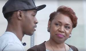 Bernette Botts looks at her son with pride.