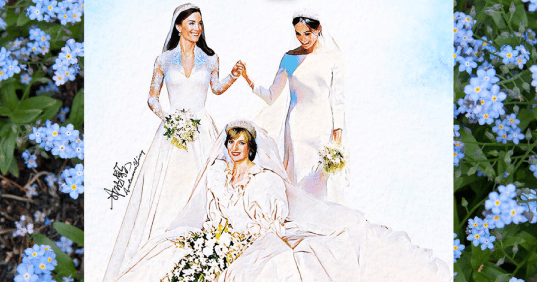 Artist Honors Diana With Moving Painting Of Late Princess With Both Her Daughters-In-Law