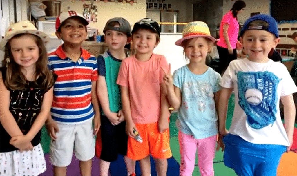 """Kids have a special """"hat day"""" in solidarity with Wyatt."""