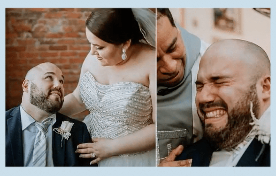 Wheelchair-Bound Groom Bursts Into Tears As He Marries Woman He Once Feared Wouldn't Date Him