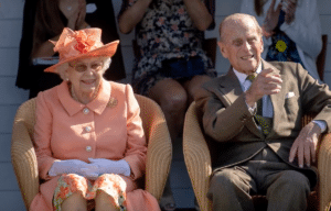 Queen Elizabeth and her husband Prince Philip