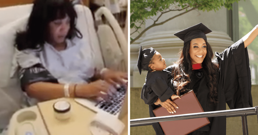 24-Yr-Old Single Mom Who Completed Final Exam While In Labor Just Graduated From Harvard