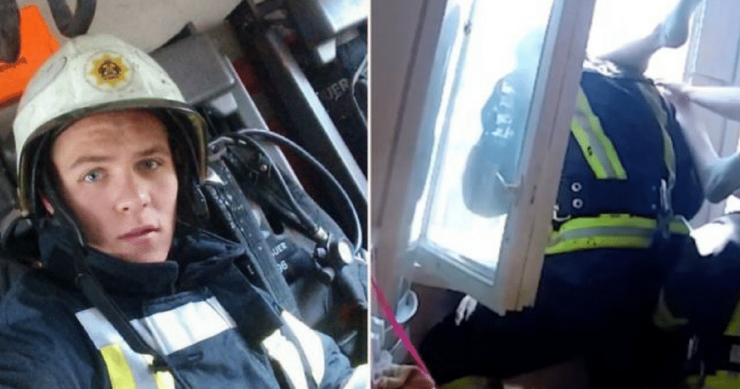 Firefighter Catches Suicidal Woman Mid-Air After She Jumped From Fourth-Story Window
