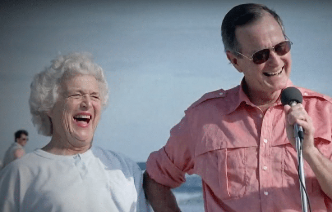 Barbara Bush and George H.W. Bush