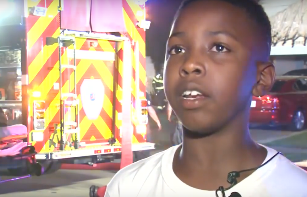 Age 12 Boy Heroically Saves Entire Family In Middle Of The Night After Fire Breaks Out In Home