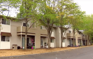 The Olympia apartments where the seven bullies attacked Carter