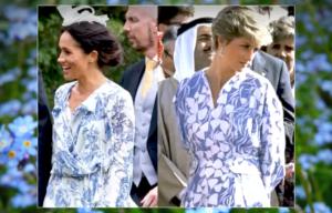 Princess Diana with Duchess Meghan
