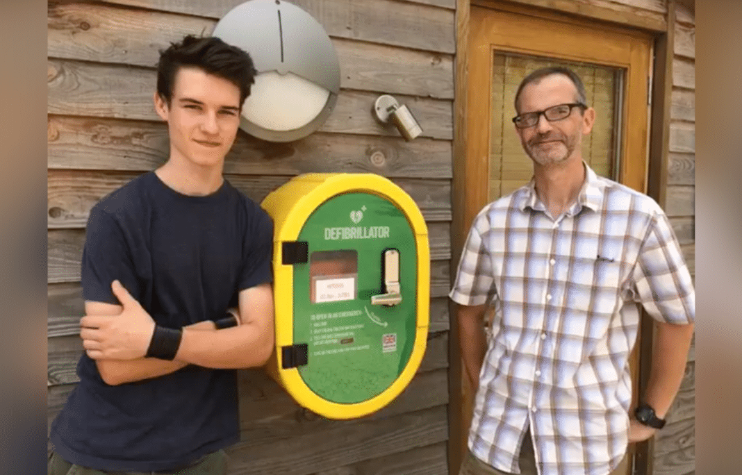 Dad Installs Defibrillator At School – 2 Days Later He Saves His Own Son's Life With It