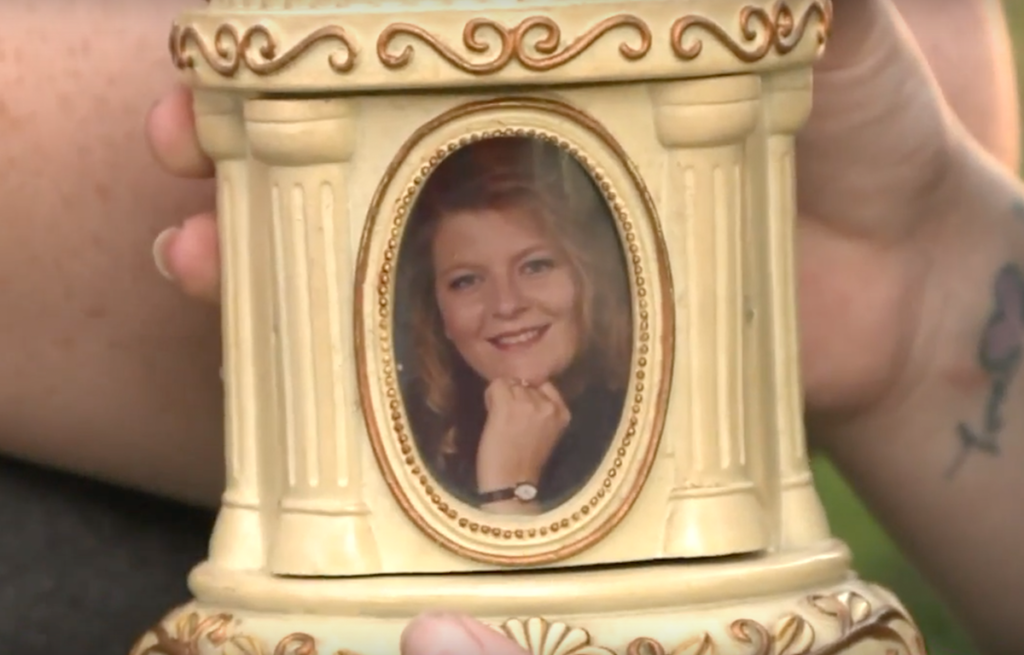 The picture of Tammy Banaszek on the snowglobe