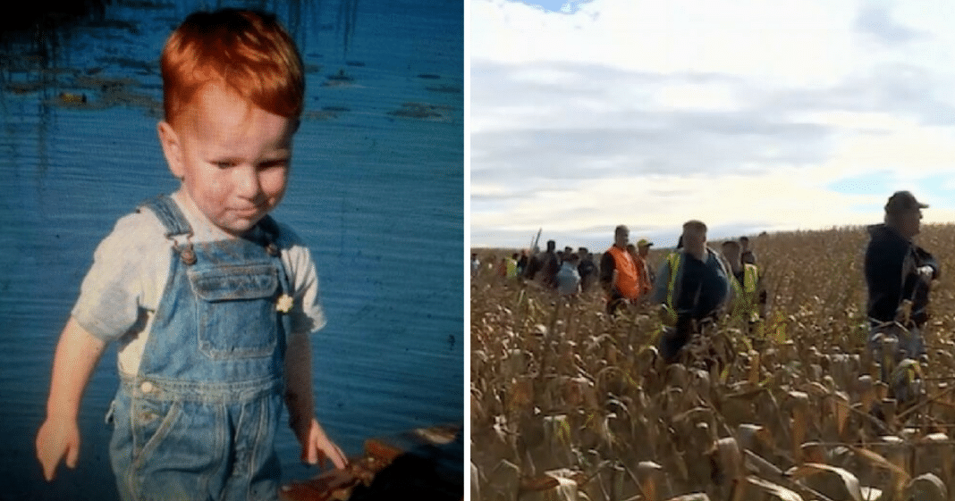 20-Hour Manhunt After Age 3 Boy Goes Missing In 400-Acre Cornfield, Then Volunteer Sees A Leg
