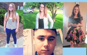 Brittany Watson, 15; Jenna A. Helton, 14; Nevaeh Law, 14; and Martin Martinez, 16