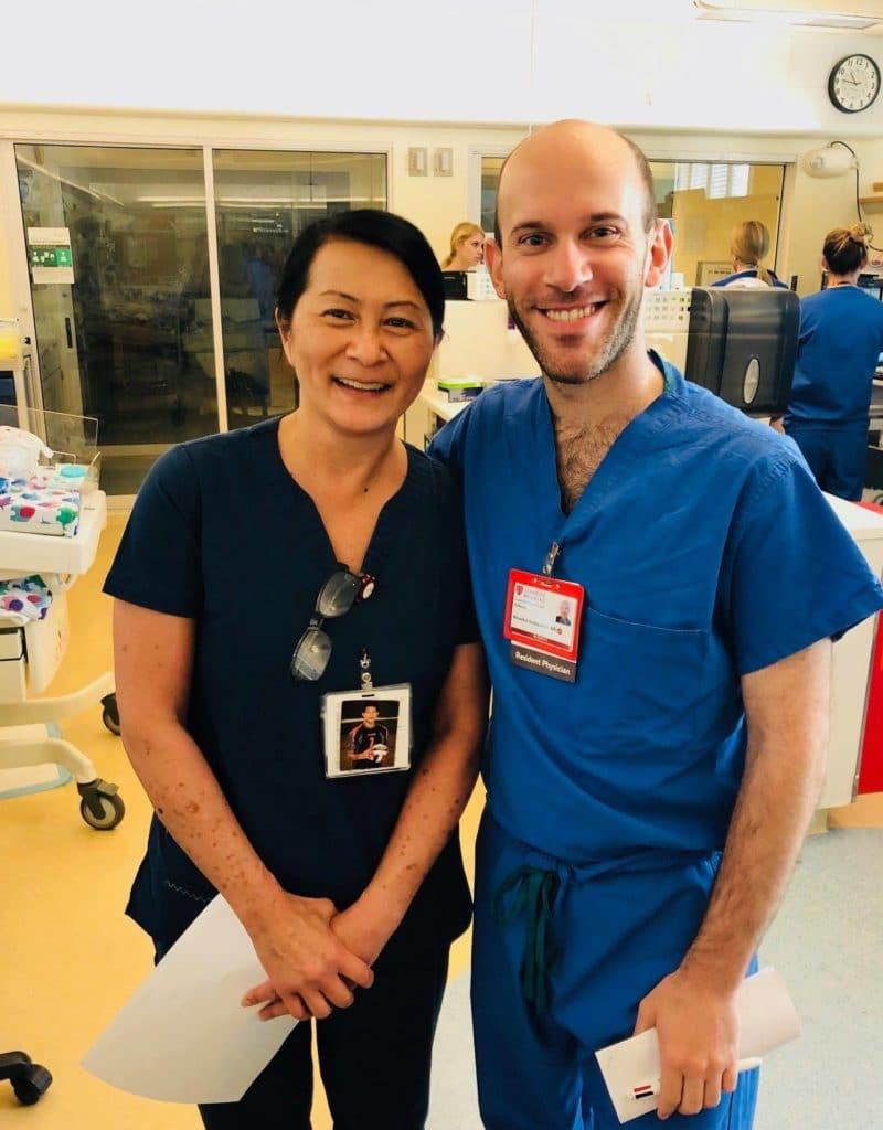 Vilma Wong with Brandon Seminatore today