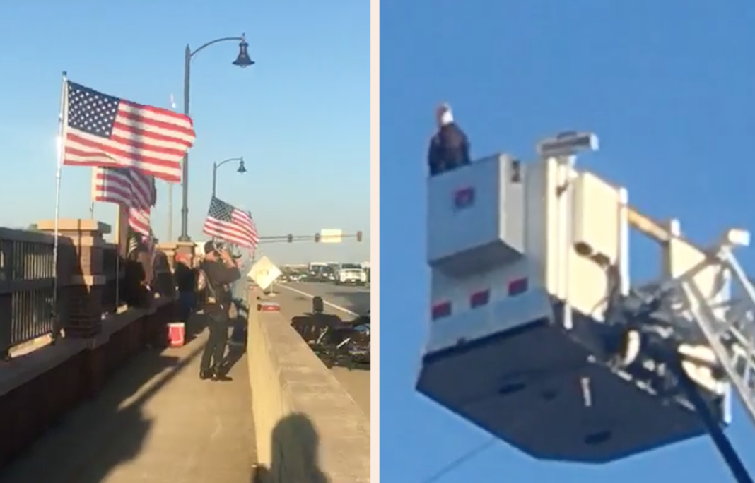 Firefighters Share Incredible Moment A Bald Eagle Lands On Firetruck During 9/11 Memorial Display