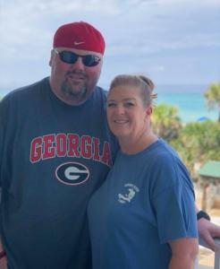 Mrs. Angela with her husband via Facebook