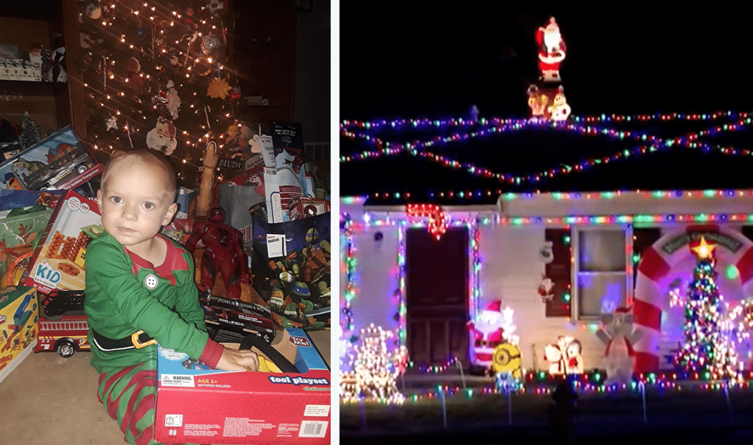 Entire Town Comes Together To Make Christmas Come Early For Age 2 Boy With Terminal Cancer