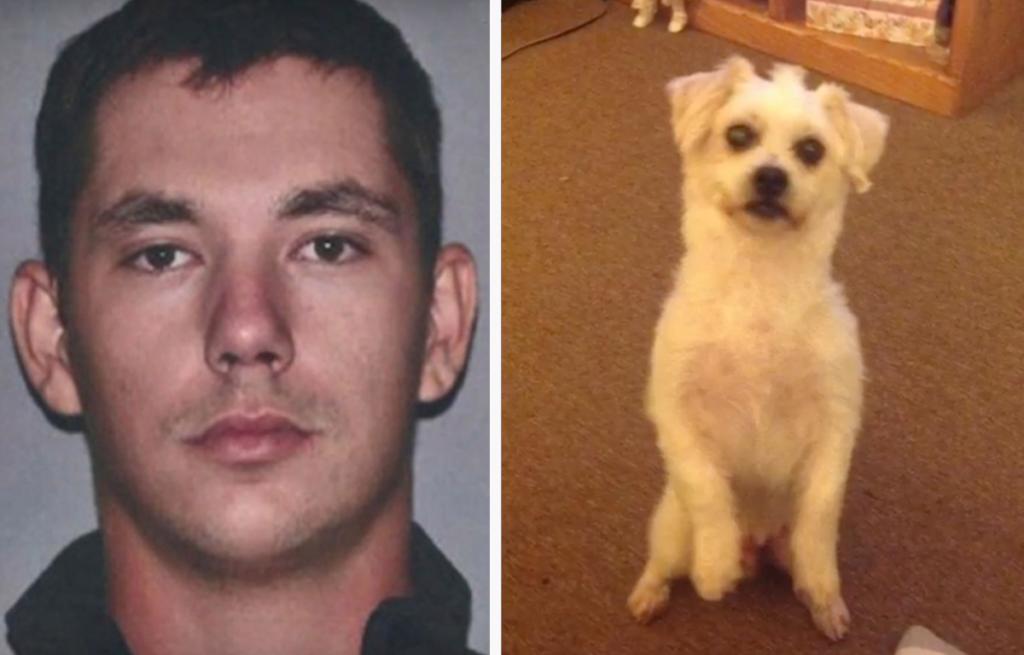 Richard Piquard and 18-year-old Shih Tzu dog named Chico