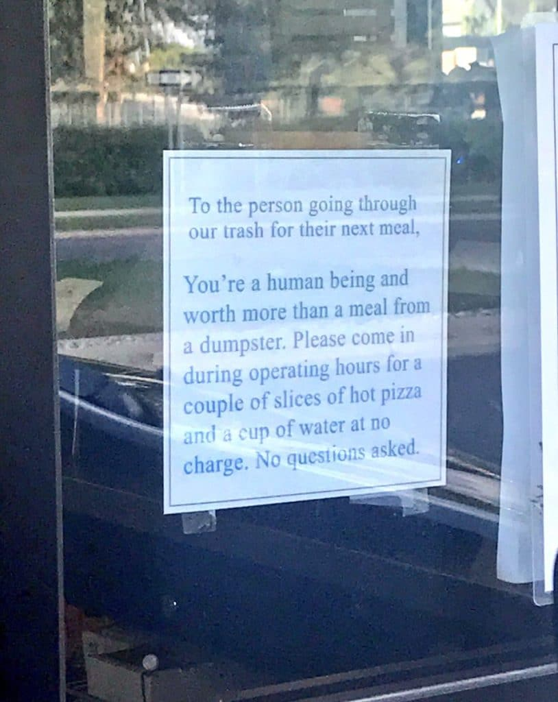 The picture in the drive-through window via Twitter