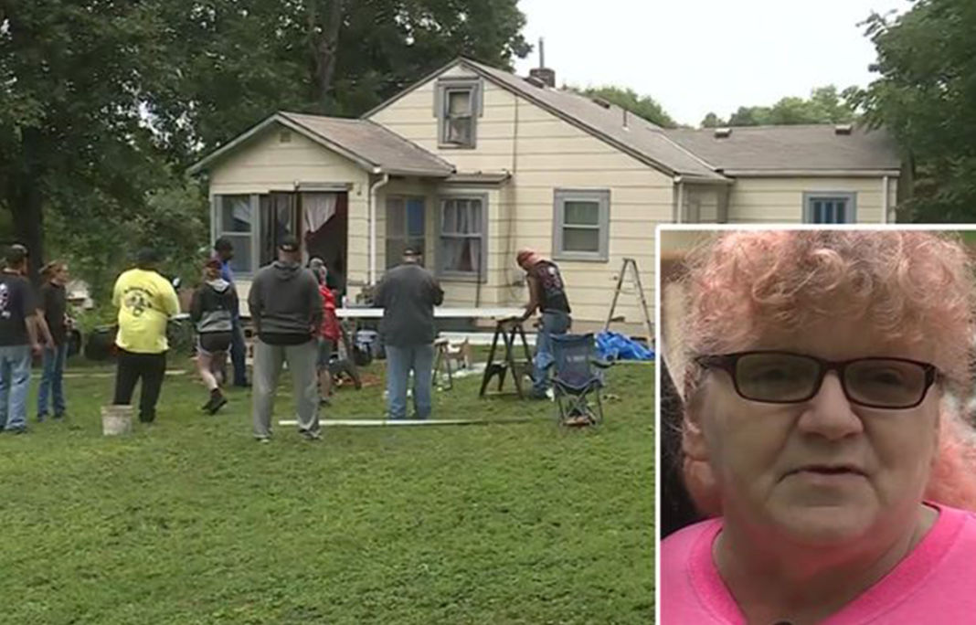 Widowed Grandma About To Lose Her Home, Then Dozens Of Strangers Show Up To Fix Everything