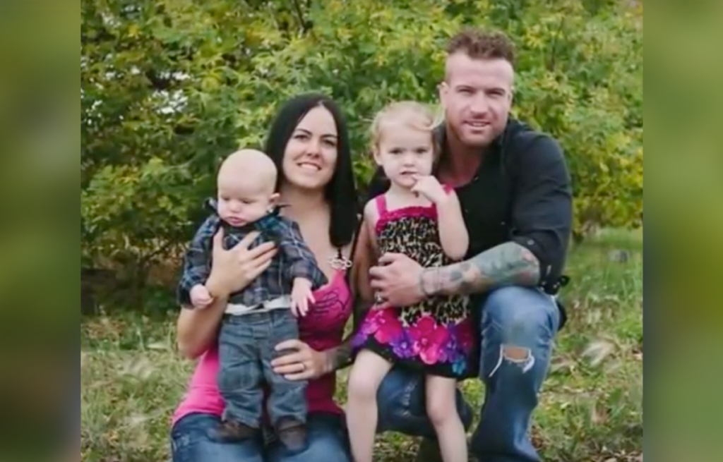 Brent and Nicole Keryluke and their children