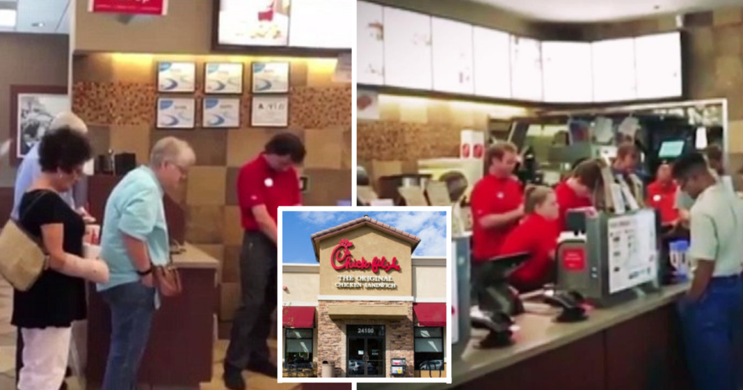 Entire Chick-fil-A Restaurant Bows Heads To Pray For Employee Before Breast Cancer Surgery