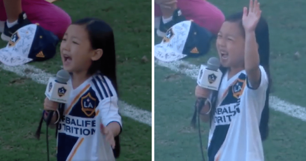 Age 7 Girl Delivers One Of The Most Goosebump-Raising National Anthem Performances You'll Ever Hear