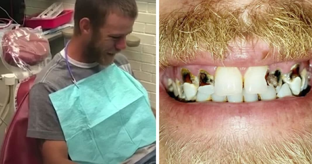 Dentist Notices Dad Never Smiles In Photos, Leaves Him In Tears With A Brand New Smile
