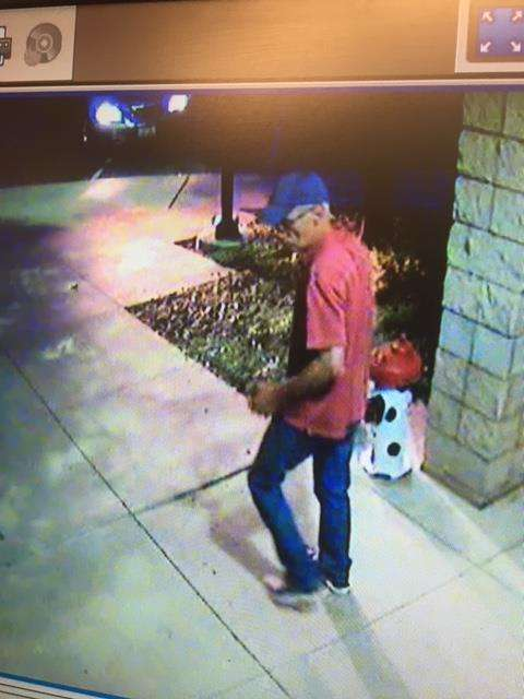 The man seen on security cameras via Douglass County Sheriff's Office