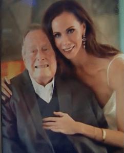 Barbara and her grandfather, George H. W. Bush