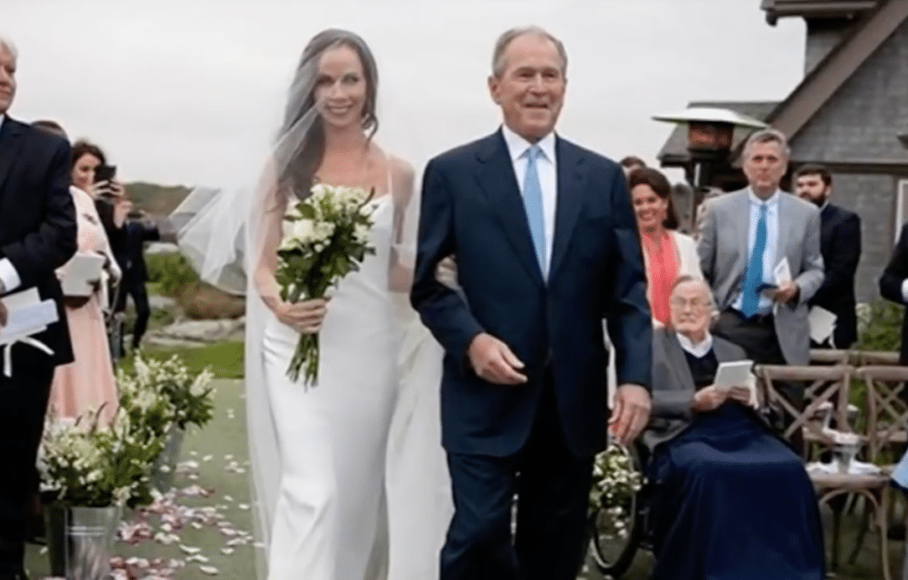 George W. Bush gives away the bride