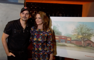 Brad Paisley and Kimberly Williams-Paisley with plans for The Store, Nashville