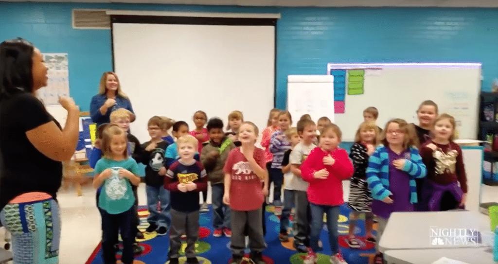 "Hickerson Elementary School performs ""Happy Birthday"" using sign language"