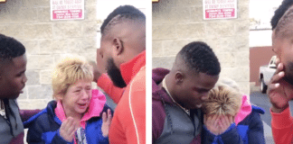HahaDavis at gas station gives money to widow