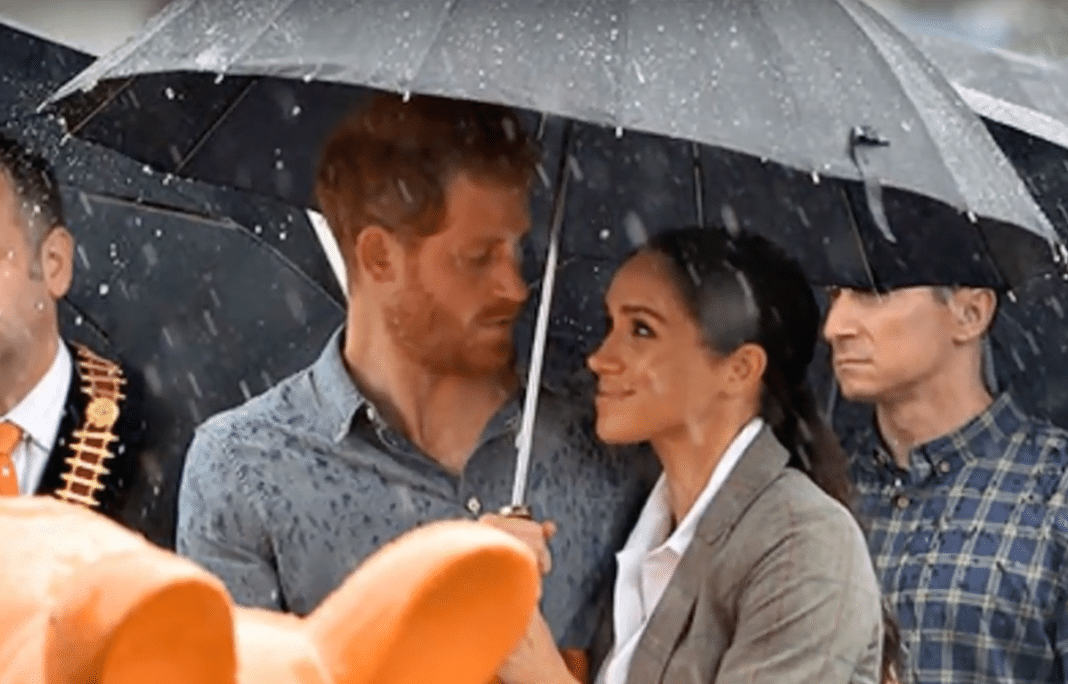 Prince Harry Offers Words Of Hope As Sudden Rainfall Pours On Farm Suffering 2-Year Drought