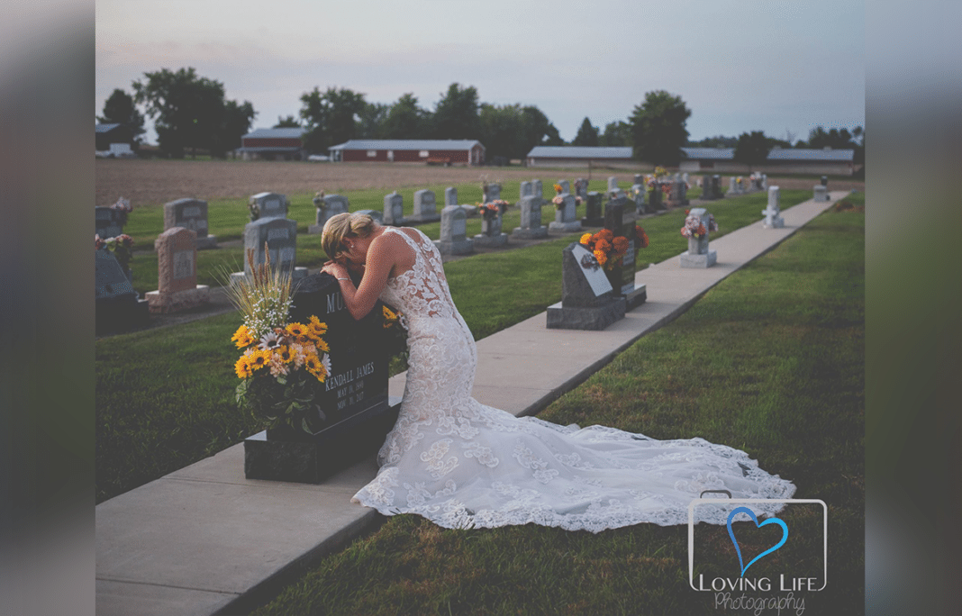 Bride Poses Alone In Tear-Jerking Wedding Photos After Firefighter Fiancé Killed By Drunk Driver