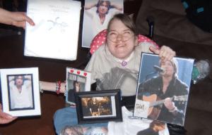 Marissa English with her Keith Urban photographs via YouTube