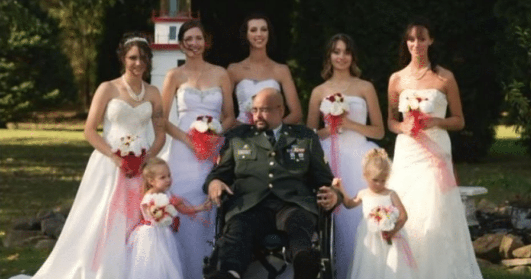 7 Daughters Show Up In Wedding Dresses To Fulfill Dying Army Vet Dad's Final Wish