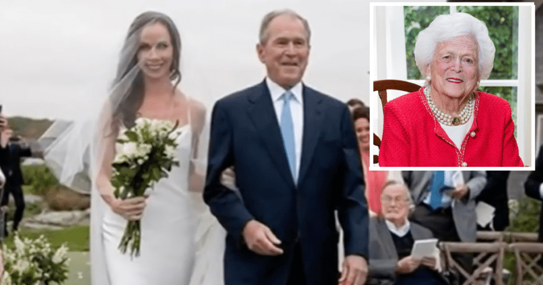 George W. Bush's Daughter Barbara Pays Tribute To Late Grandmother Barbara Bush At Her Wedding