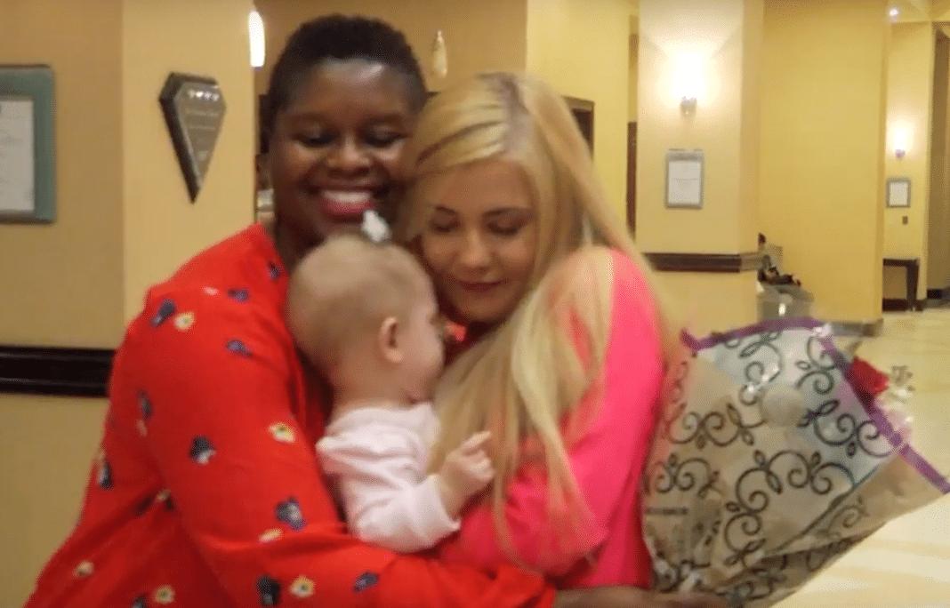 Deborah Rouse, baby Calli, and Hannah Jarvis