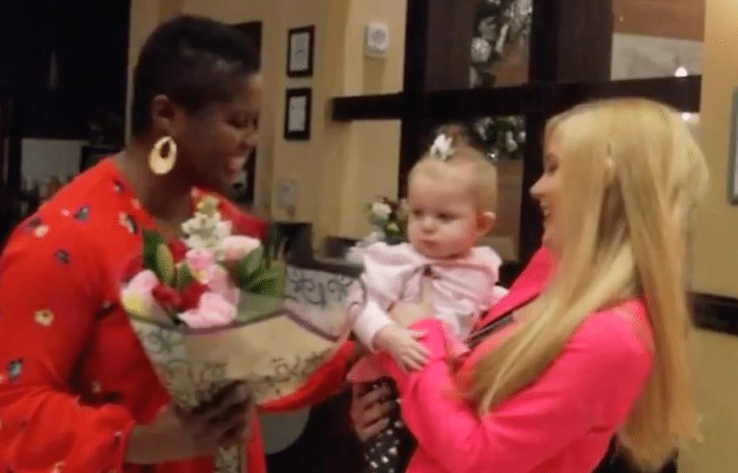 Deborah Rouse, baby Calli, and Hannah JarvisDeborah Rouse, baby Calli, and Hannah Jarvis