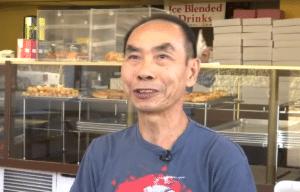 John Chhan at Donut City, Seal Beach, California