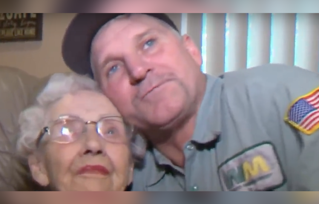 Heroic Garbageman Goes Against Orders, Pulls Age 93 Woman Into Truck As Wildfire Closed In