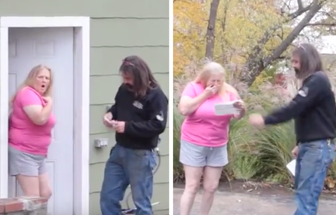 Woman's Reaction Is Priceless When Local Repair Man Shows Up At Her Door With Keys To Free Car