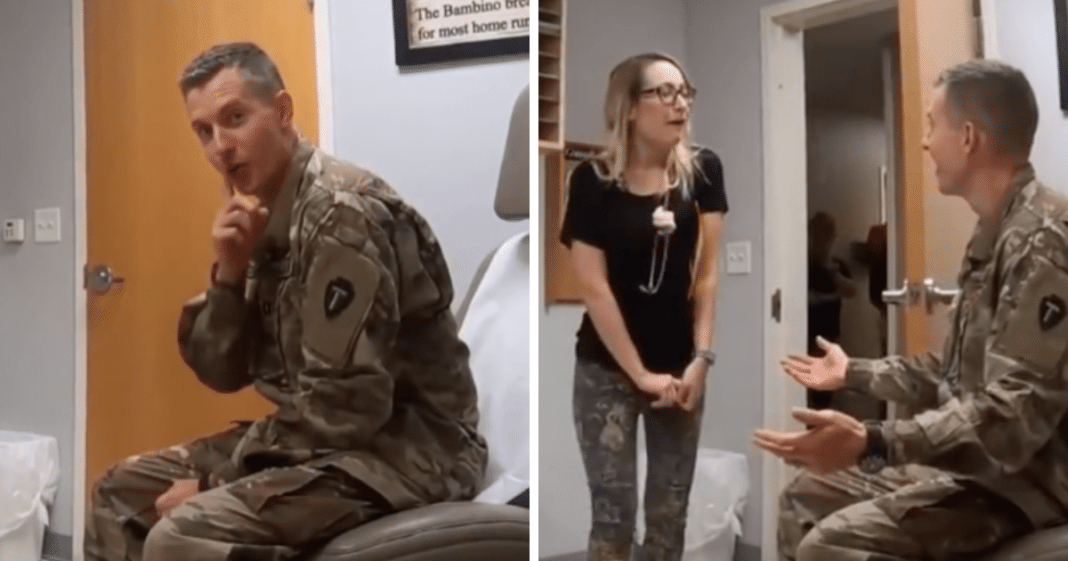 Pediatrician Thinks She's Going To See A Patient, Finds Army Husband Inside Exam Room Instead