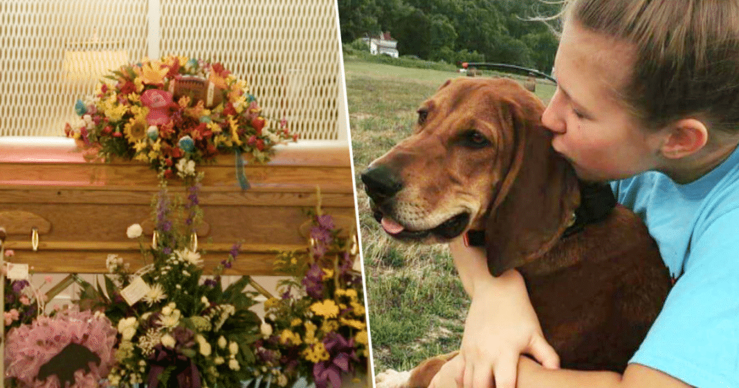 Age 12 Girl Killed While Chasing After Her Dog Is Buried In Casket With Beloved Pet