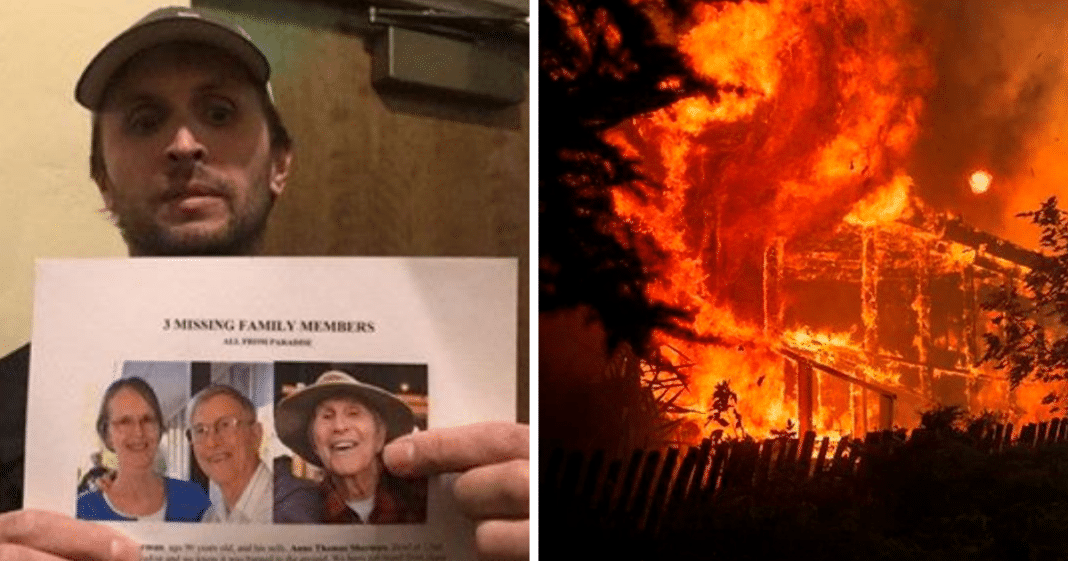 Man Refused To Give Up Search For Missing Age 96 Grandparents Caught In California Fire