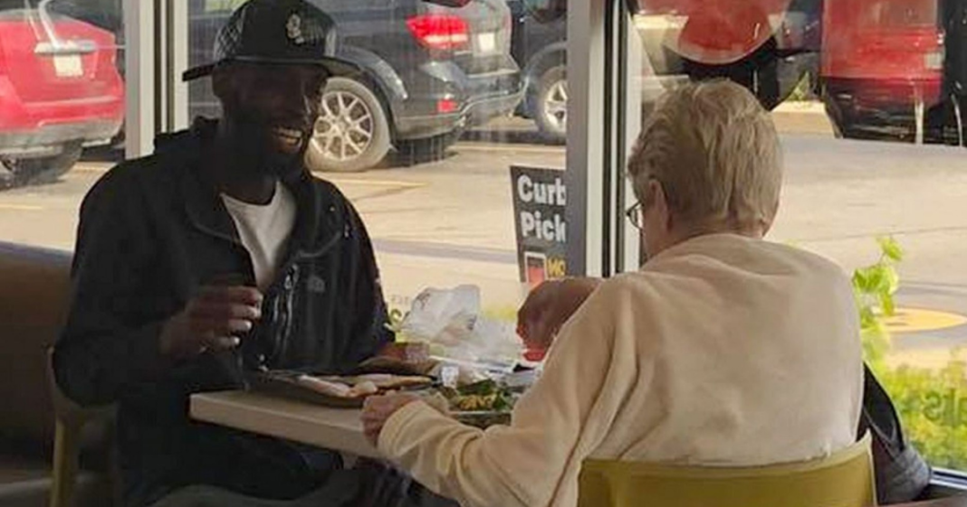 A Pair Of Strangers Sit Down To Share Meal At McDonald's, Don't Realize Someone Else Is Watching