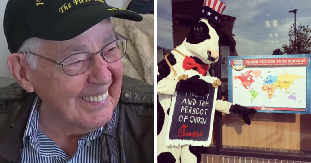 Local Chick-fil-A Honors 92-Year-Old World War II Veteran With Free Food For Life